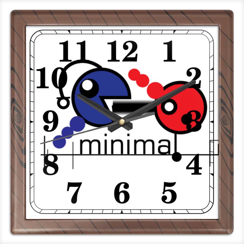 Часы квадратные из пластика (под дерево) Printio Минимал часы квадратные из пластика под дерево printio россия