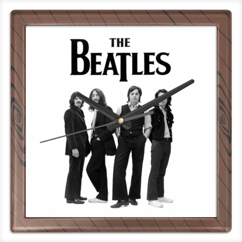 Часы квадратные из пластика (под дерево) Printio Beatles часы квадратные из пластика под дерево printio the nexus