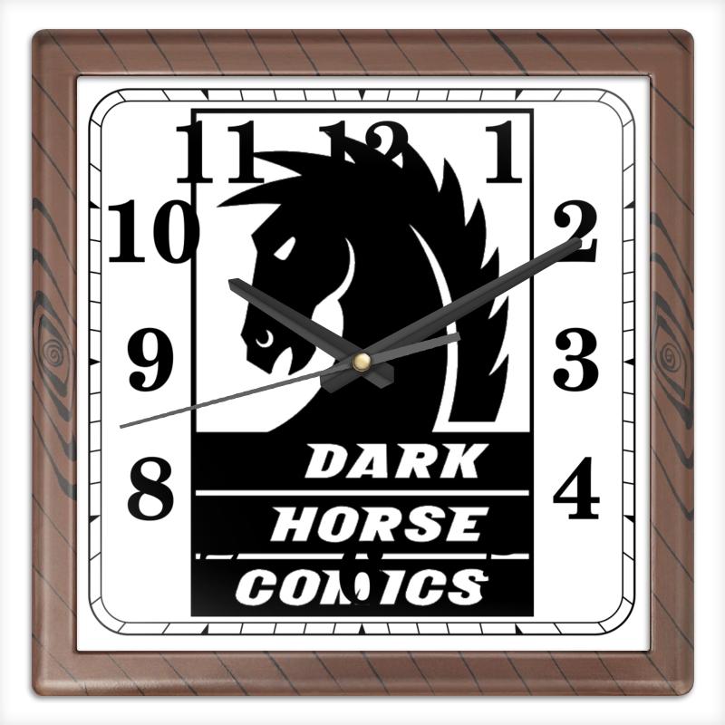 Часы квадратные из пластика (под дерево) Printio Dark horse comics часы круглые из дерева printio dark horse comics