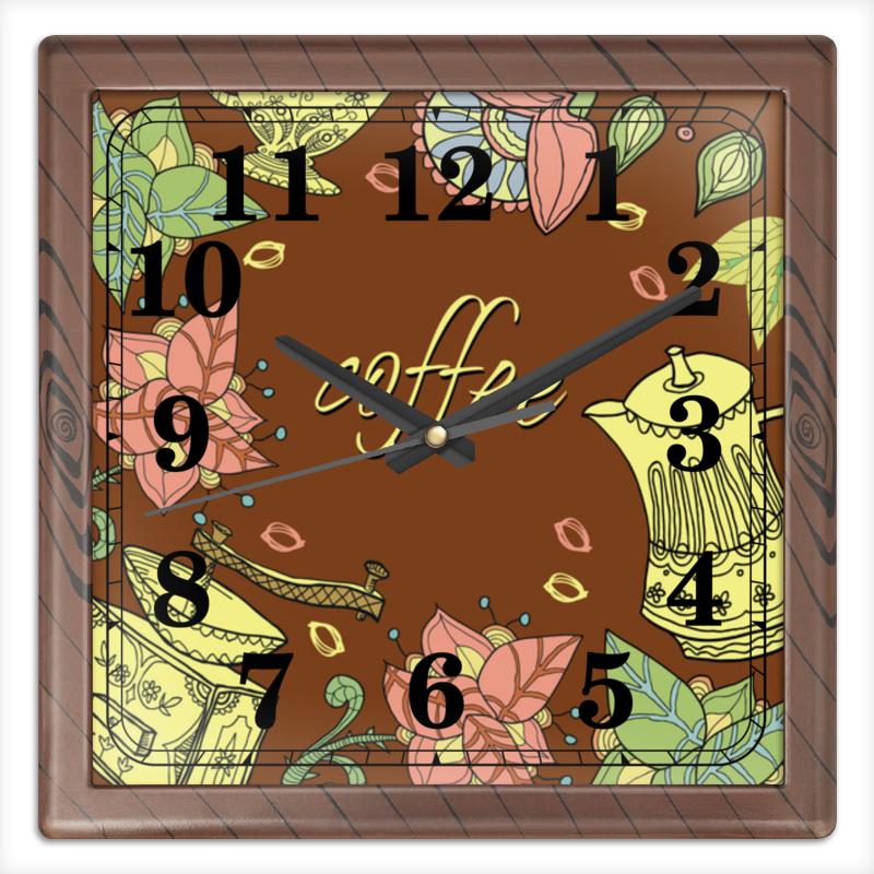 Часы квадратные из пластика (под дерево) Printio Кофе часы квадратные из пластика под дерево printio россия