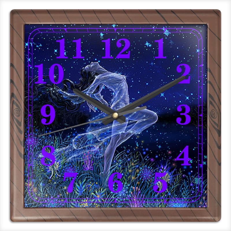 Часы квадратные из пластика (под дерево) Printio Звездопад часы квадратные из пластика под дерево printio олень