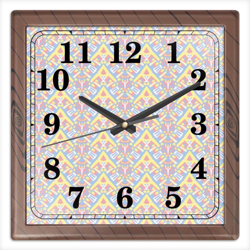 Часы квадратные из пластика (под дерево) Printio Ngjjvbn480 часы квадратные из пластика под дерево printio полевые цветы