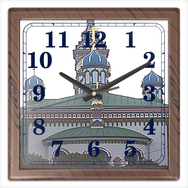 Фото - Printio Храм. часы квадратные из пластика под дерево printio helicologie