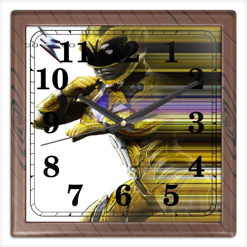 Часы квадратные из пластика (под дерево) Printio Могучие рейнджеры часы квадратные из пластика под дерево printio россия