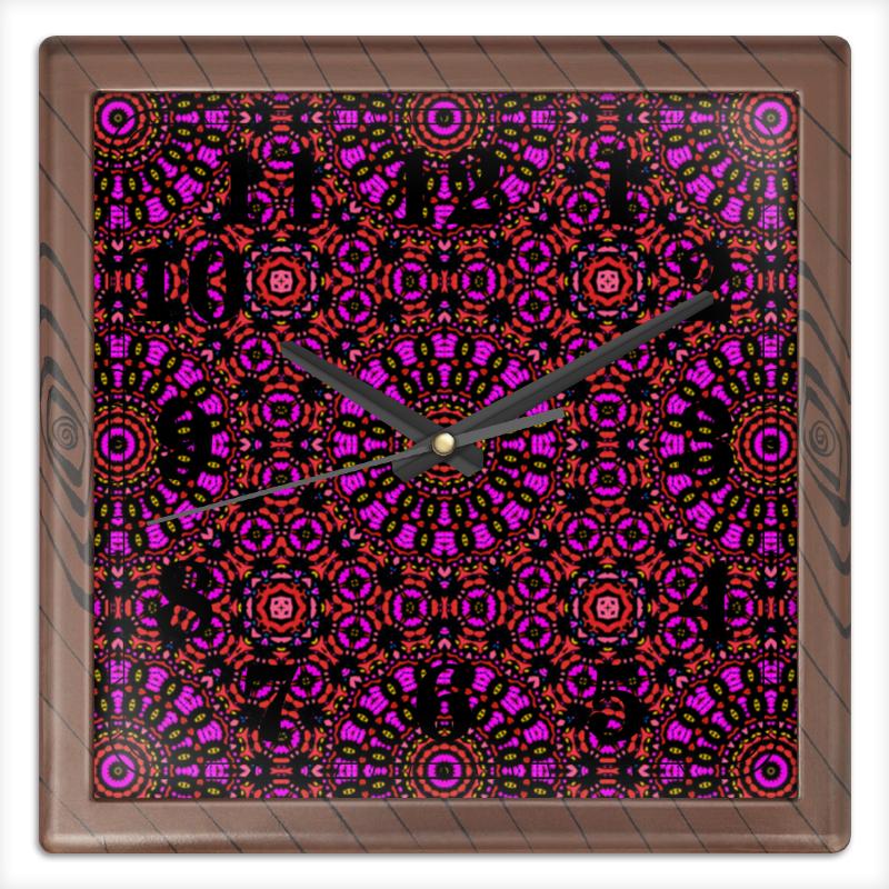 Часы квадратные из пластика (под дерево) Printio Purple часы квадратные из пластика под дерево printio россия
