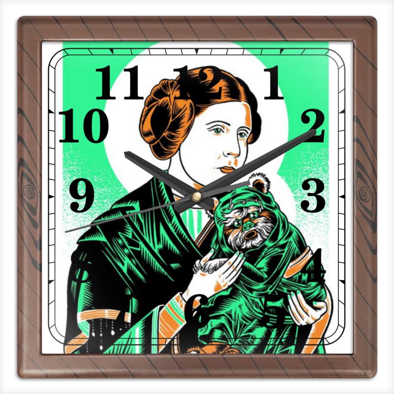 Часы квадратные из пластика (под дерево) Printio Преподобная лея жидкость сливки cover girl covergirl 3in1 810 30ml