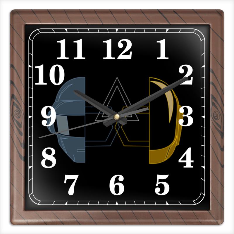 Часы квадратные из пластика (под дерево) Printio Daft punk часы квадратные из пластика под дерево printio fluxx