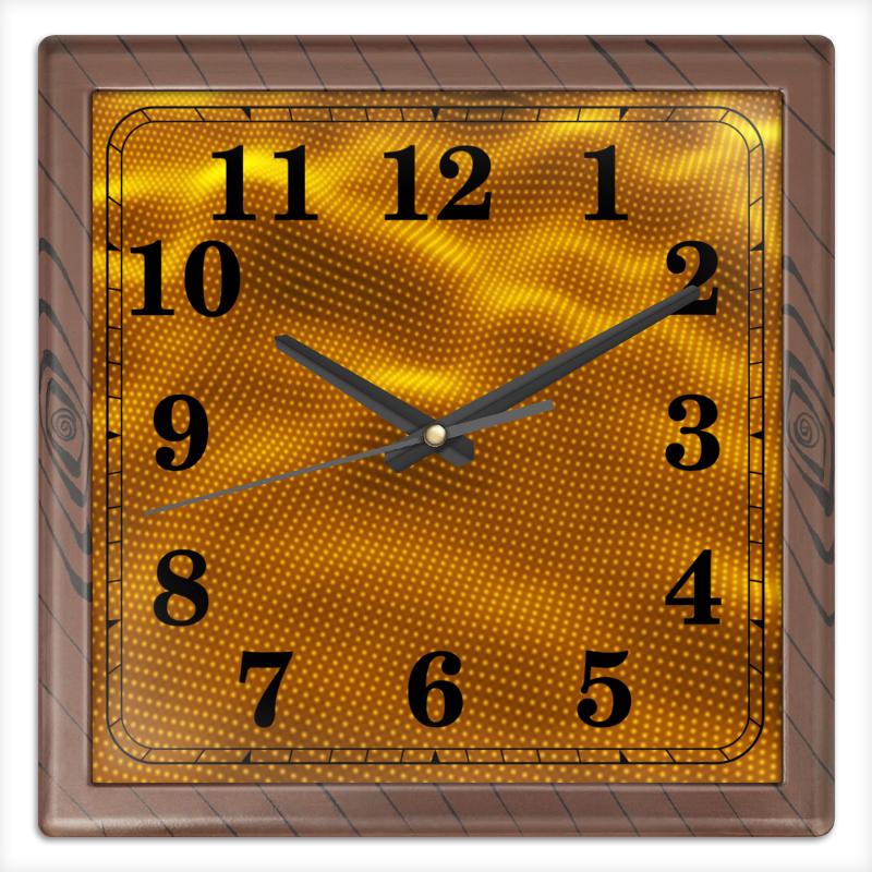 Часы квадратные из пластика (под дерево) Printio Dynamic waves часы квадратные из пластика под дерево printio fluxx