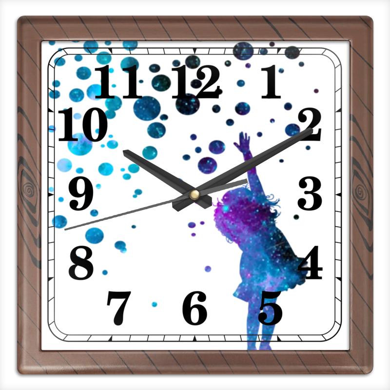 Printio Дотянуться до звезд часы квадратные из пластика под дерево printio лотос