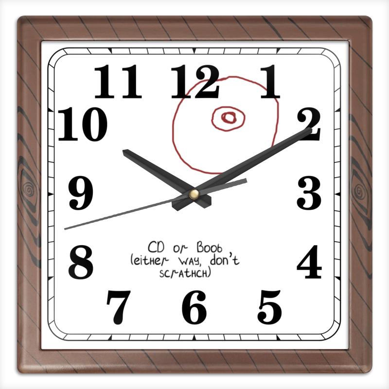 Часы квадратные из пластика (под дерево) Printio Cd или титя рубашка поло stella plays printio cd или титя
