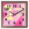 """Часы квадратные из пластика (под дерево) """"Fluttershy Color Line"""" - magic, fim, fluttershy, cutiemark, friendship"""