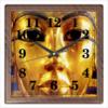 """Часы квадратные из пластика (под дерево) """"Нефертити"""" - царица, египетская"""