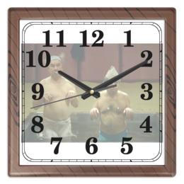 """Часы квадратные из пластика (под дерево) """"Господин ПЖ и его пацак"""" - кино, кин-дза-дза, плюк"""