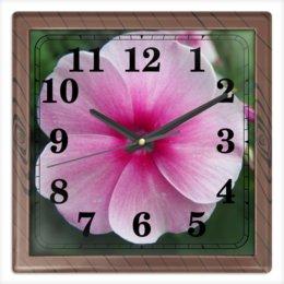 """Часы квадратные из пластика (под дерево) """"Цветущая долина"""" - лето, алтай, горный алтай, цветущая долина, долина цветов"""
