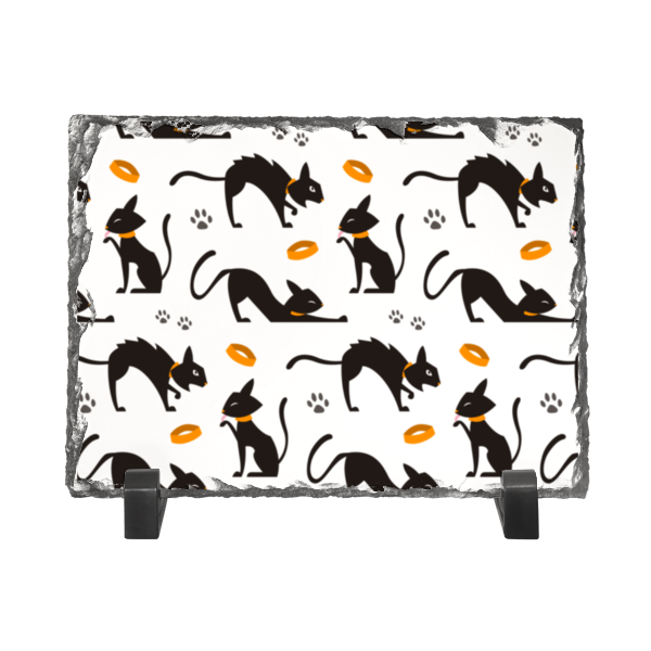 Каменная рамка Printio Чёрные кошки springway женские чёрные балетки