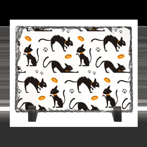 цена Каменная рамка Printio Чёрные кошки