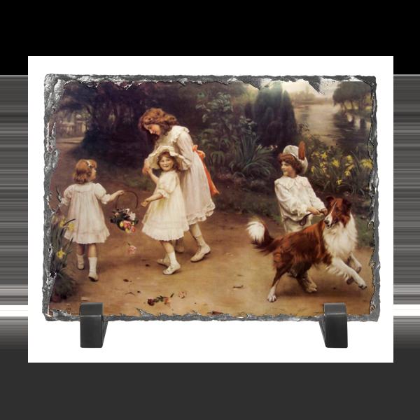 Каменная рамка Printio Картина артура элсли (1860-1952) подарочная коробка малая пенал printio картина артура элсли 1860 1952
