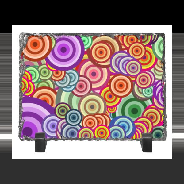 Каменная рамка Printio Цветные круги