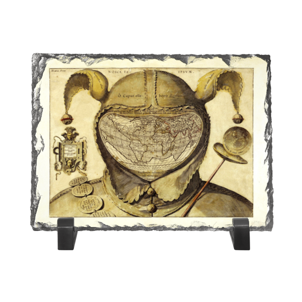 Каменная рамка Printio Карта мира шут