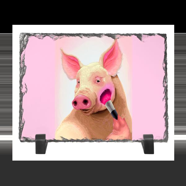 Каменная рамка Printio Стильная свинья каменная рамка printio розочка