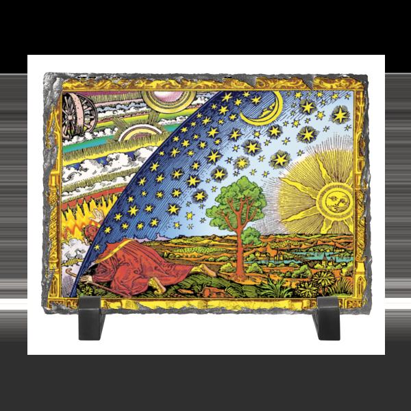 к в кольбе пейзаж гравюра германия начало xix века Каменная рамка Printio Гравюра фламмариона в цвете