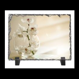 """Каменная рамка """"Нежные орхидеи"""" - лето, цветы, весна, интерьер, весенние принты"""