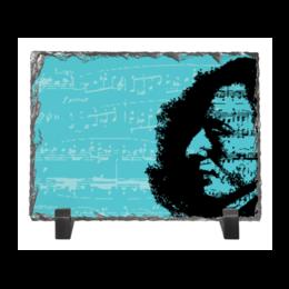 """Каменная рамка """"Шопен"""" - портрет, ноты, профиль, музыкант, шопен"""