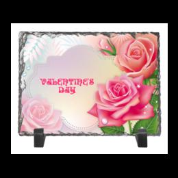 """Каменная рамка """"Валентинка"""" - валентинка, роза"""