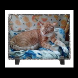 """Каменная рамка """"Спящий кот"""" - кот"""