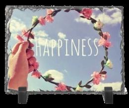 """Каменная рамка """"HAPPY"""" - арт, в подарок, оригинально"""