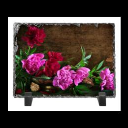 """Каменная рамка """"Цветы"""" - цветы, фото, пион"""