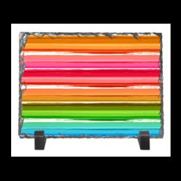"""Каменная рамка """"Радуга"""" - узор, радуга, рисунок, полосатый, красочный"""