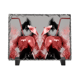 "Каменная рамка ""Яблочный микс"" - фрукты, напиток, абстракция, яблоко, натюрморт"