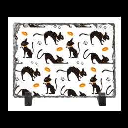 """Каменная рамка """"Чёрные кошки"""" - кот, кошка, животные, коты, котёнок"""