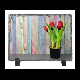 """Каменная рамка """"Тюльпаны"""" - цветы, весна, весенние принты, интерьер, тюльпаны"""
