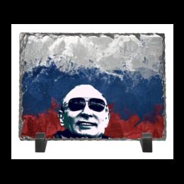 """Каменная рамка """"Путин"""" - очки, патриот, флаг, путин, putin"""