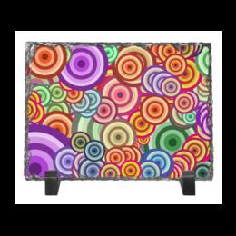 """Каменная рамка """"Цветные круги"""" - узор, стиль, рисунок, абстракция, орамент"""