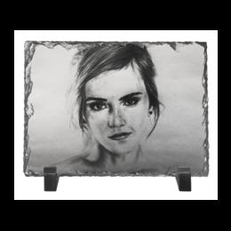 """Каменная рамка """"Emma Watson"""" - арт, рисунок"""