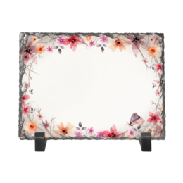 """Каменная рамка """"Цветочная"""" - цветы, бабочки, цветочный, лепестки, рисунок"""