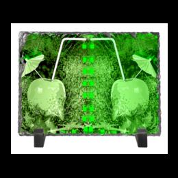 "Каменная рамка ""Яблочный микс"" - напиток, абстракция, яблоко, фрукт, натюрморт"