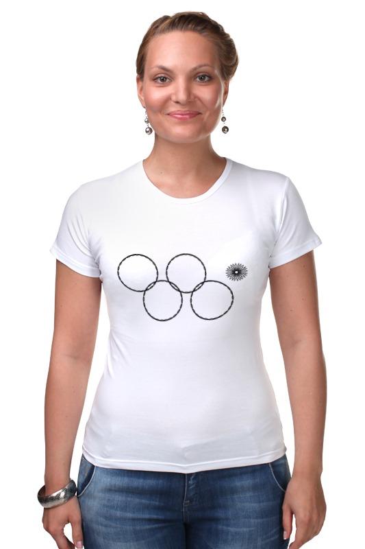 Футболка Стрэйч Printio Олимпийские кольца в сочи 2014 кольца кюз дельта 311439 d