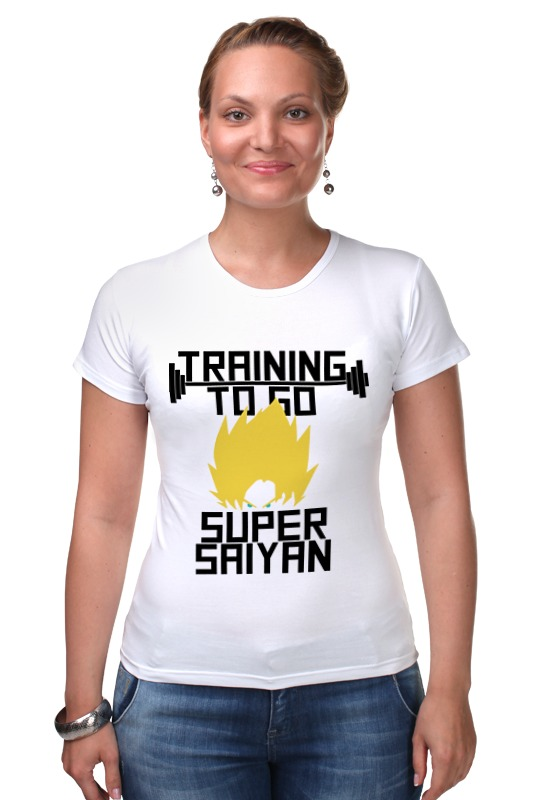 Футболка Стрэйч Printio Training to go super saiyan футболка wearcraft premium slim fit printio training to go super saiyan