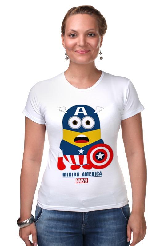 Футболка Стрэйч Printio Minion america футболка стрэйч printio спортзал попайя