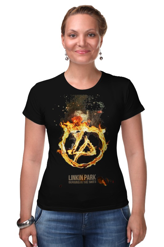 Футболка Стрэйч Printio Linkin park - burning in the skies майка классическая printio linkin park burning in the skies