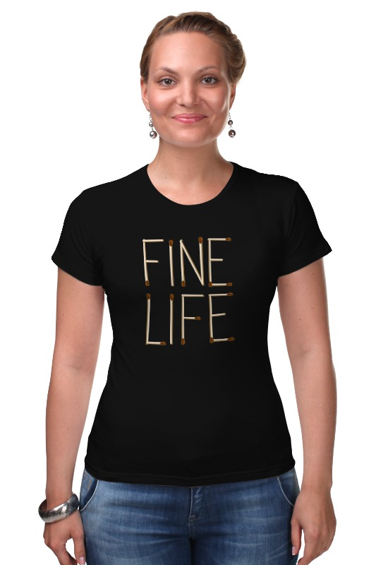 Футболка Стрэйч Printio Fine life тан fine life с огурцом и зеленью 0 5%