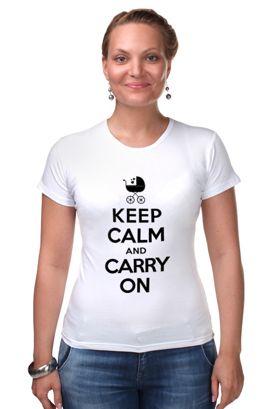 Футболка Стрэйч Printio Keep calm & carry on футболка wearcraft premium printio keep calm