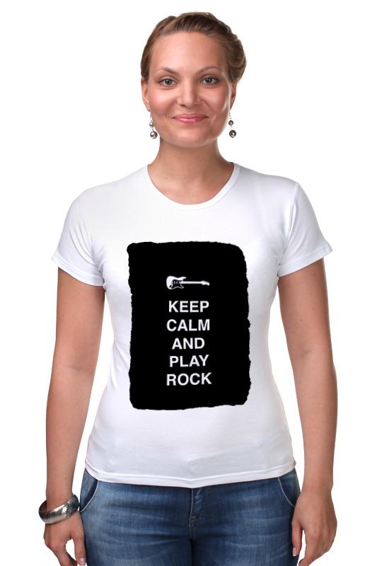 Футболка Стрэйч Printio Keep calm and play rock чехол для iphone 7 глянцевый printio keep calm and play rock