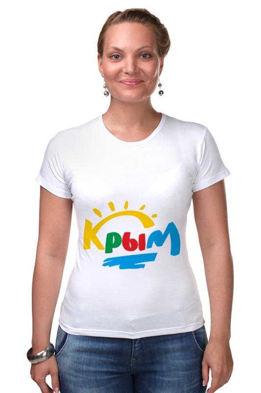 Футболка Стрэйч Printio Крым. россия футболка для беременных printio крым россия