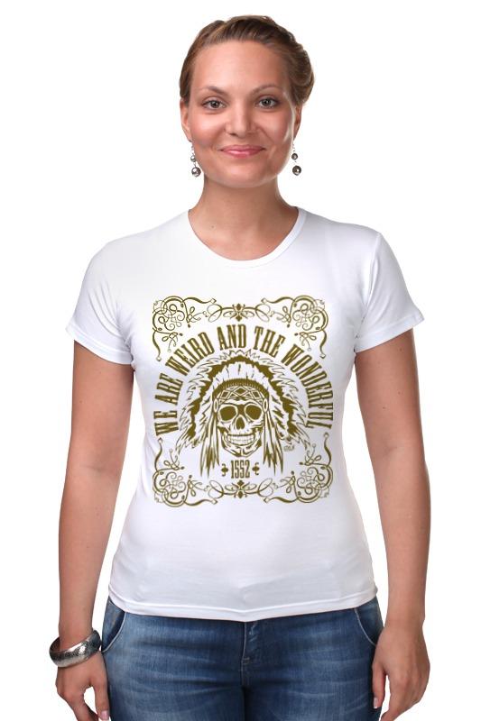 Футболка Стрэйч Printio We are weird and the wonderful футболка wearcraft premium slim fit printio we are weird and the wonderful