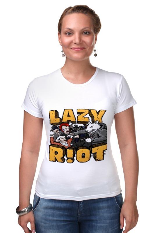 Футболка Стрэйч Printio Lazy riot riot points яндекс деньги